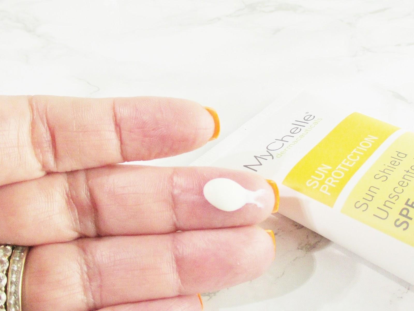 mychelle-dermaceuticals-skin-care-solar-shield-spf-28-dollop