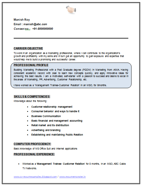 over 10000 cv and resume samples with free download  mba marketing resume sample doc