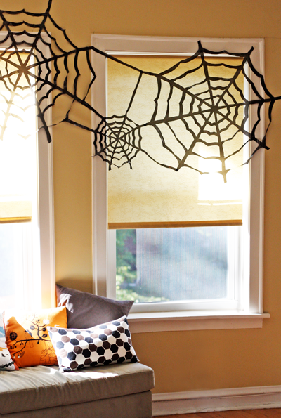 cheap trash bag halloween decorating