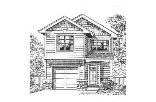 Plano arquitect nico de casa habitaci n de dos niveles y 3 for Fachadas de casas modernas para colorear