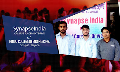 SynapseIndia campus placement drive at HCE, Sonipat
