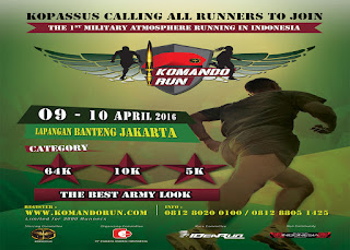 KomandoRun Medali |Kopassus Call All Runners To Join Hut ke 64 tahun Tribuana Chandraca Satya Dharma