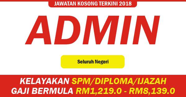 jawatan kosong admin and clerk 2018
