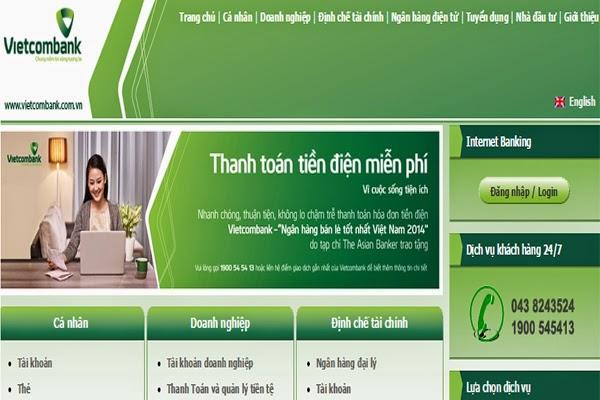 Cách Thanh Toán Cước Internet FPT Bằng Internet Banking Vietcombank