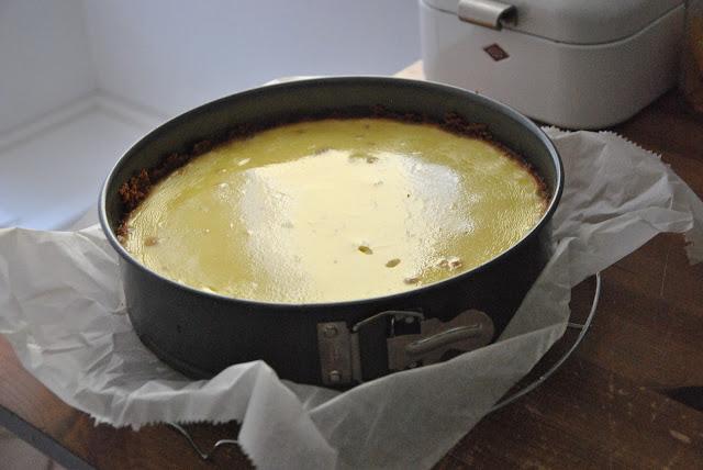New York Cheesecake frisch aus dem Ofen