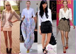 mini saia soltinha com camisa social - como combinar