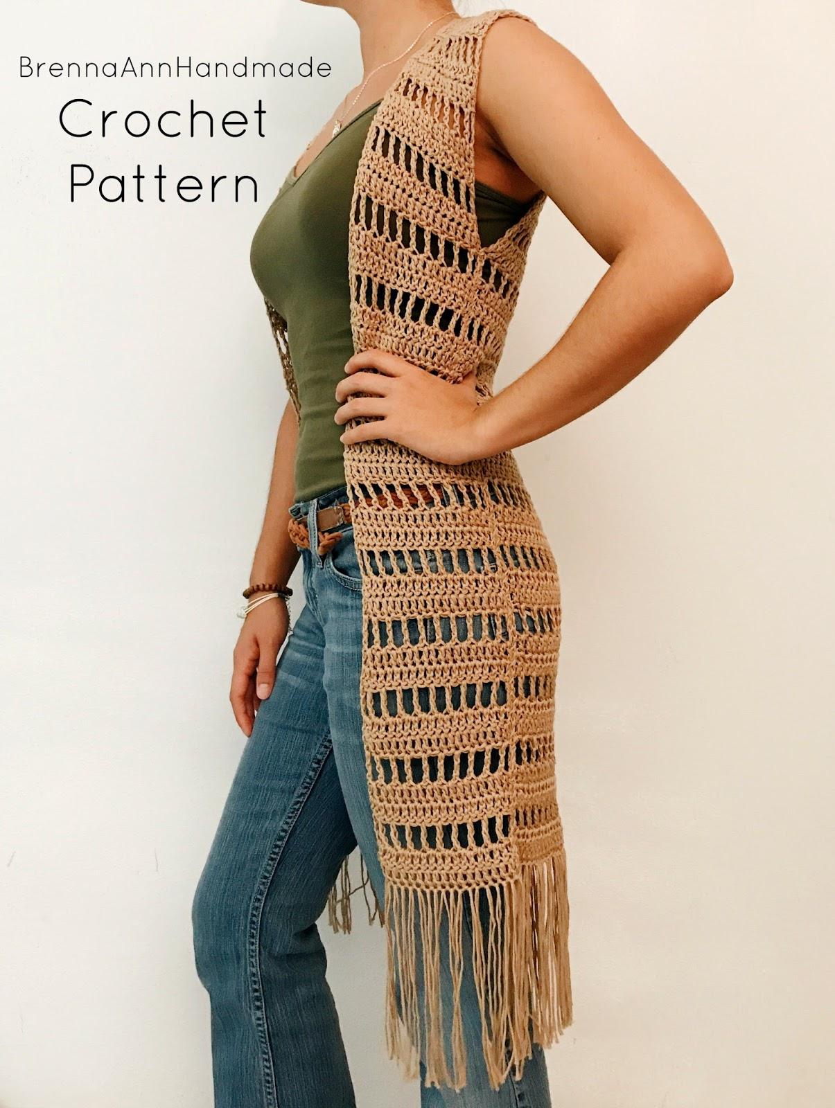 Brenna Ann Handmade: NEW Crochet Pattern - The Sahara Vest
