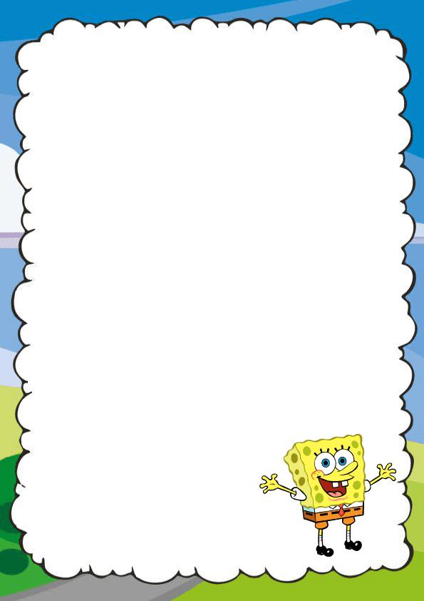 Bonita caratula para cuaderno de Bob esponja