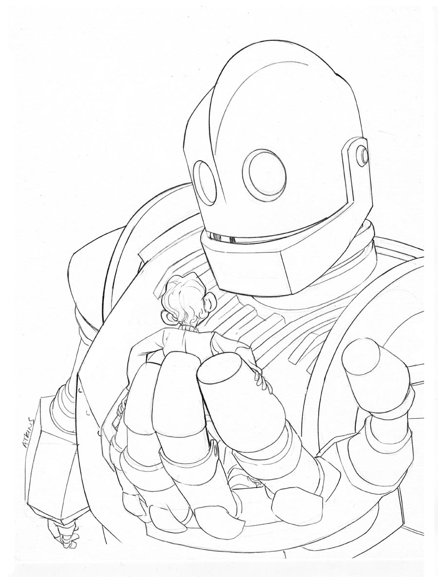 Tareas el gigante de hierro rosalinda biblio blog for Iron giant coloring pages