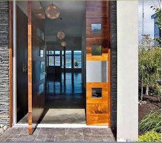 puertas de calle modernas de madera barnizada de por si siempre van a tener un aspecto de buena presentacin en la imagen presentamos una puerta que fue