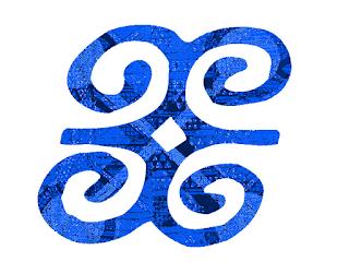 Dwennimmen ram's horns African Adinkra symbol of humility with strength