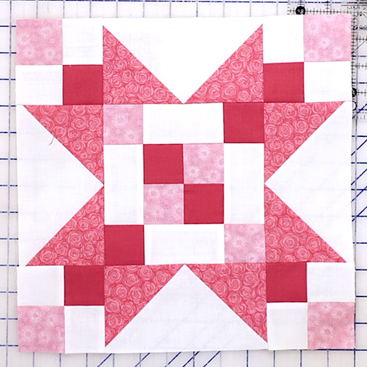 The Frayed Sawtooth Star Quilt Block Free Tutorial designed by Jennifer Bosworth of Shabby Fabrics