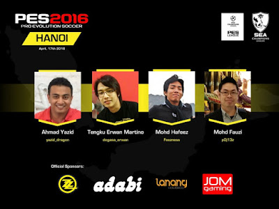 Daftar Peserta PES League SEA Final 2016 di Hanoi