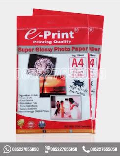 Kertas Foto Glossy Photo Paper A4 Eprint 230gsm, alat tulis kantor, 0852-2765-5050