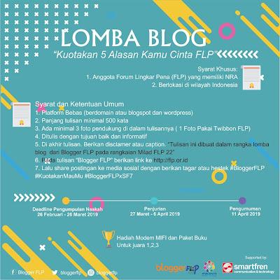 Ayo Ikutan Lomba Blogger FLP Bersama Smartfren dan Indiva