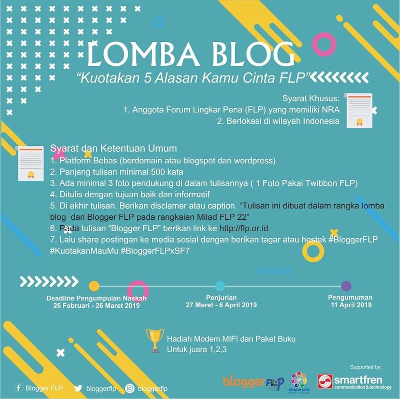 Ayo Ikutan Lomba Blog Blogger FLP Bersama Smartfren dan Indiva