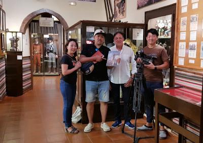 Televisión japonesa Logic Entertainment en el Museo del Bandolero