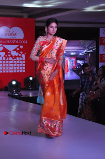 South Indian Celebrities Pos at Love For Handloom Collection Fashion Show  0034.jpg