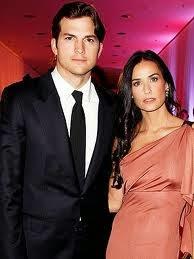 Ashton Kutcher dan Demi Moore