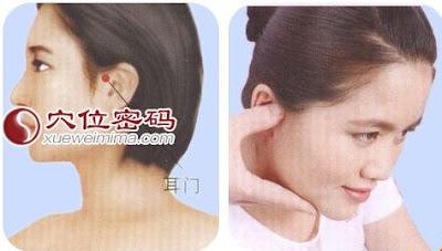 耳門穴位 | 耳門穴痛位置 - 穴道按摩經絡圖解 | Source:xueweitu.iiyun.com