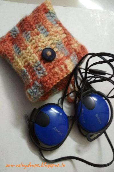DIY - crocheted head phone holder...