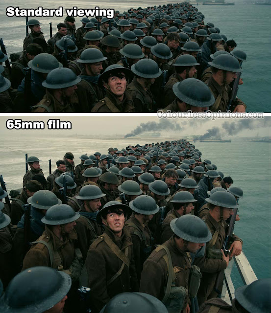 dunkirk movie 65mm film vs standard imax comparison