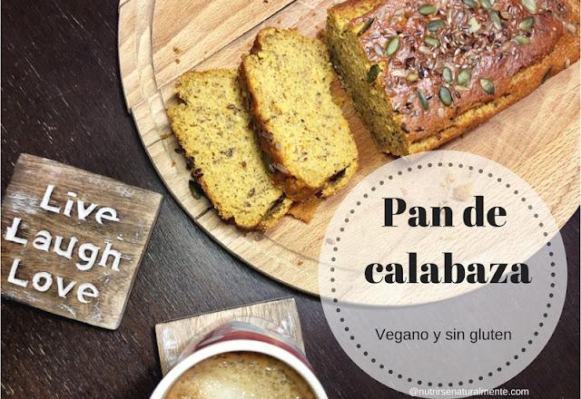 Pan dulce de calabaza vegano y sin gluten