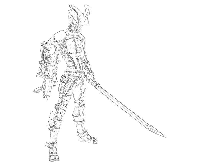 Borderlands coloring pages ~ Borderlands 2 Zer0 Characters   Yumiko Fujiwara