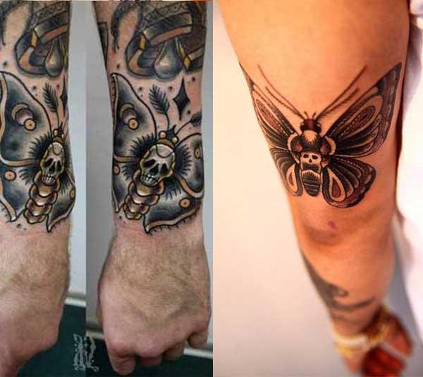 kelebek erkek kol dövmesi