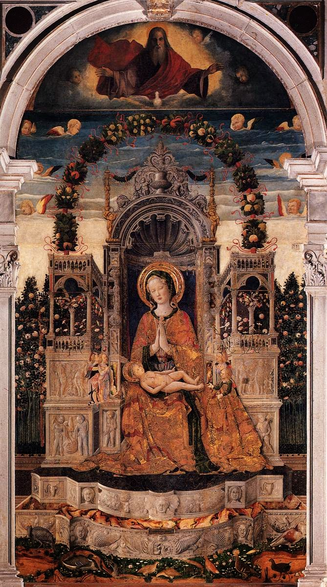 A painting of the Virgin and Child Enthroned by Fra Antonio da Negroponte, San Francesca della Vigna, Venice.