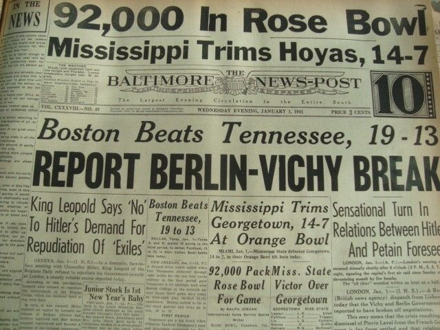 1 January 1941 worldwartwo.filminspector.com Baltimore News-Post headlines
