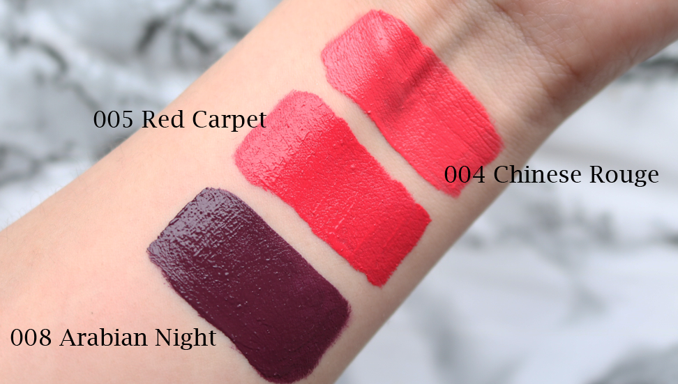 GOSH Liquid Matte Lips review swatches