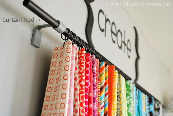 hang fabric from curtain rod rings