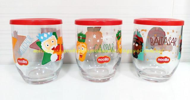 Colección vasos Nocilla Reyes Magos