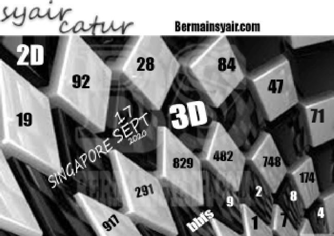 Kode syair Singapore Kamis 17 September 2020 277