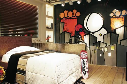 Dormitorio graffiti para jovencito by for Dormitorios tematicos