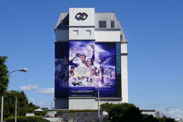 Giant Ready Player One film billboard