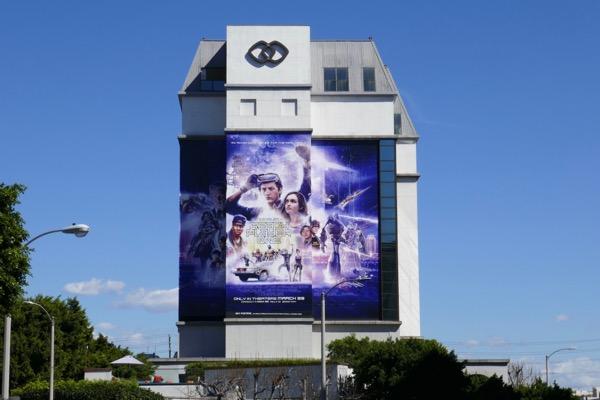 Giant Ready Player One film billboard