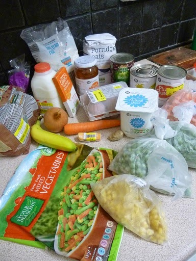 £5 of Food and Tips on Shopping for Live Below the Line