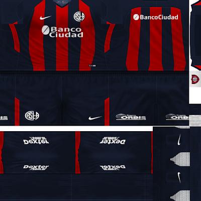 PES 6 Kits San Lorenzo Season 2018/2019 by Rodry90 Kitmaker