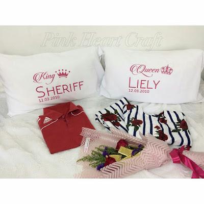 sarung bantal hadiah kahwin dan ulang tahun