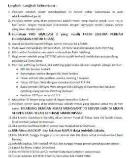 Langkah-Langkah Sinkronisasi UNBK SMA MA 2018