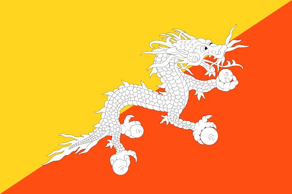 Logo Gambar Bendera Negara Bhutan PNG JPG ukuran 600 px