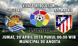 Prediksi Bola Real Sociedad vs Atletico Madrid 20 April 2018