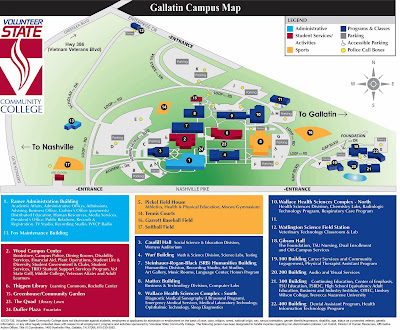 vol state campus map Vol State Virtual Community New Gallatin Campus Map See What S New vol state campus map