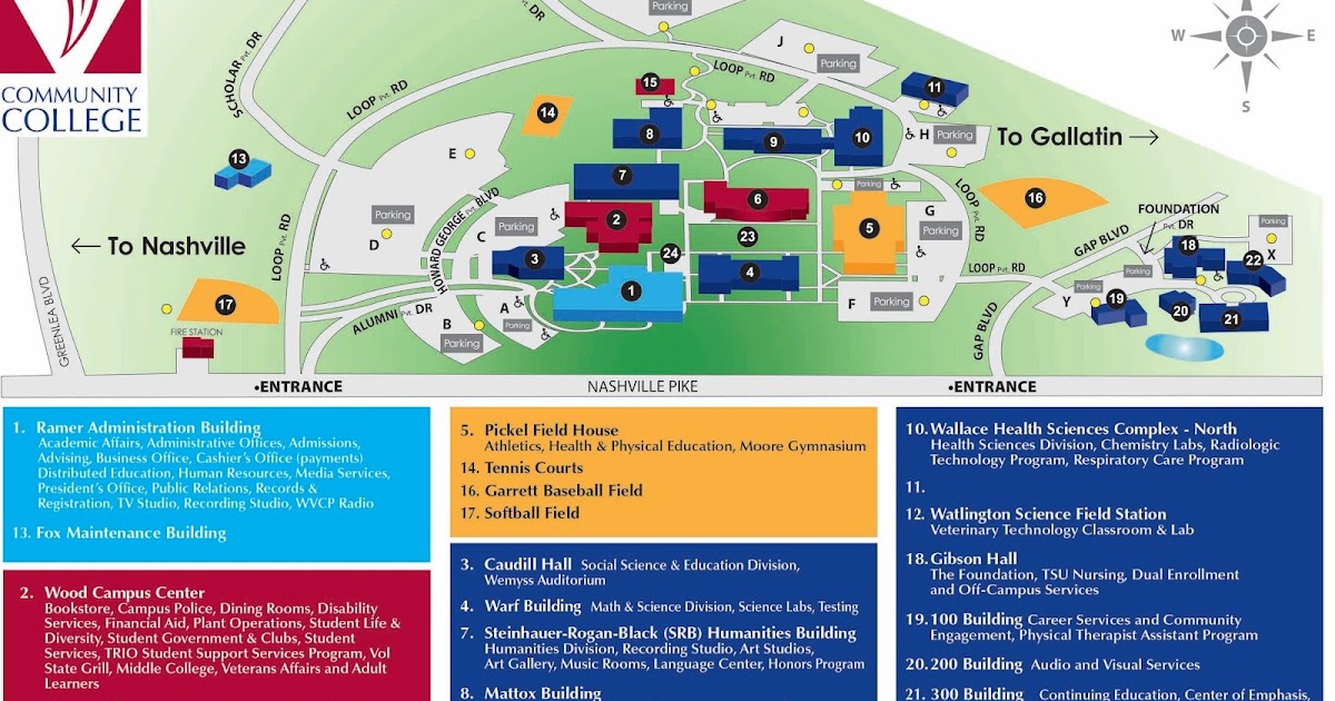 Vol State Virtual Community: New Gallatin Campus Map   See What's New