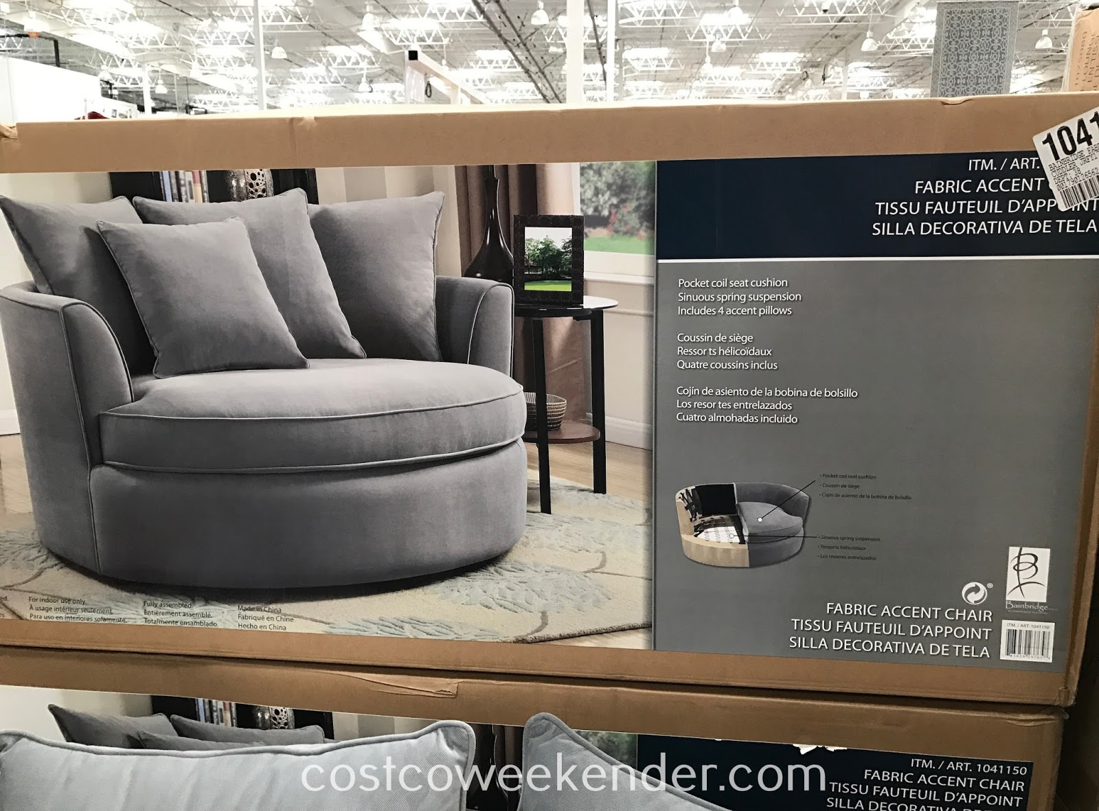 Accent Chairs At Costco Bainbridge Fabric Accent Chair Costco Weekender