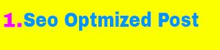 Seo optmized post - Logo