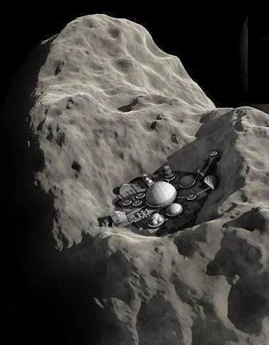 小行星上的採礦基地