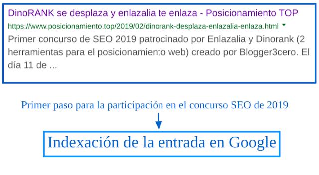¿Cómo ha indexado Google esta entrada? Título y descripción de esta entrada en Google